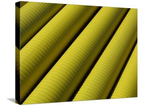 Close-up of Yellow Tubing--Stretched Canvas Print