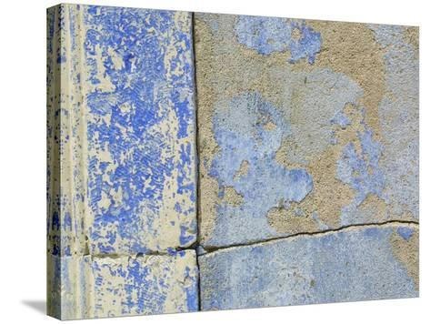 Close-up of Worn Stone Wall--Stretched Canvas Print
