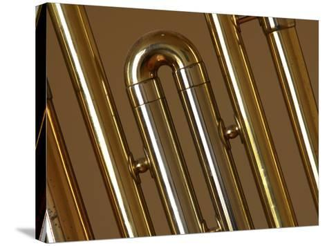 Close-up of a Brass Musical Instrument--Stretched Canvas Print
