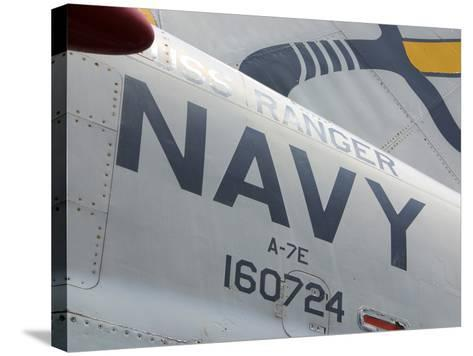 Close-up of an American Navy Jet with Lettering and Numbers--Stretched Canvas Print