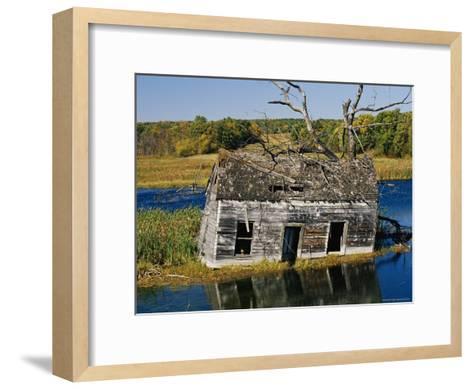 Marsh Reclaims an Abandoned Homestead-Raymond Gehman-Framed Art Print