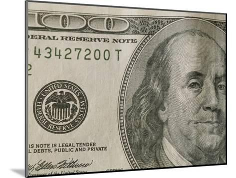 Portrait of Benjamin Franklin on the One Hundred Dollar Bill-Joel Sartore-Mounted Photographic Print
