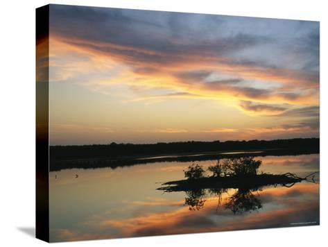 Sunset on Floridas Gulf Coast--Stretched Canvas Print