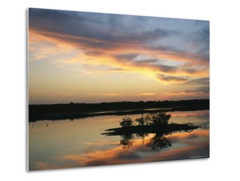 Sunset on Floridas Gulf Coast--Metal Print