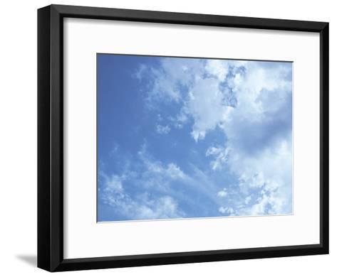Blue Sky and Puffy White Clouds-Stephen Alvarez-Framed Art Print