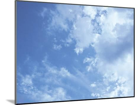 Blue Sky and Puffy White Clouds-Stephen Alvarez-Mounted Photographic Print