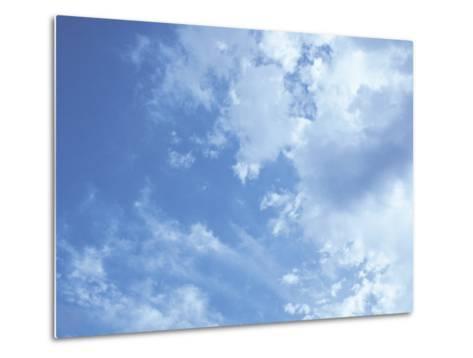 Blue Sky and Puffy White Clouds-Stephen Alvarez-Metal Print