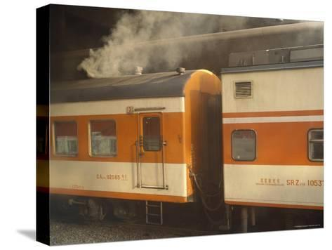 Steam Emanates from the Food Car of a Local Train--Stretched Canvas Print