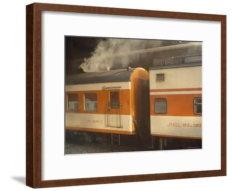 Steam Emanates from the Food Car of a Local Train--Framed Art Print