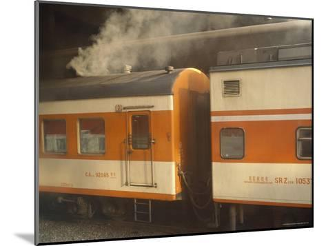 Steam Emanates from the Food Car of a Local Train--Mounted Photographic Print