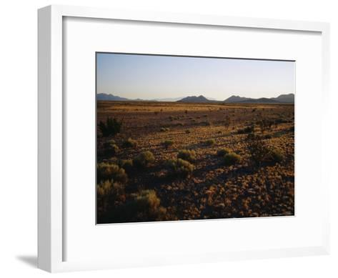 Desert Prairie outside of Santa Fe-Raul Touzon-Framed Art Print