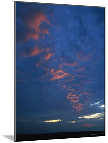 Sunset over the Mexican Desert near the Texas Border-Stephen Alvarez-Mounted Photographic Print