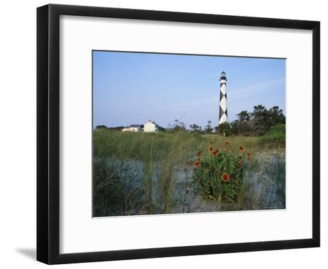 View of Cape Lookout Lighthouse-Stephen Alvarez-Framed Art Print