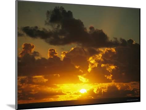 Sunset Through Dramatic Clouds over the Vast Pacific Ocean-Todd Gipstein-Mounted Photographic Print
