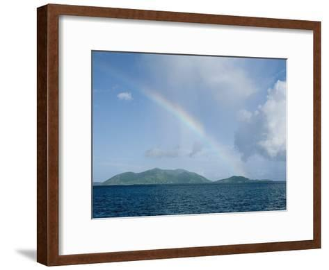 Rainbow over the British Virgin Islands-Heather Perry-Framed Art Print