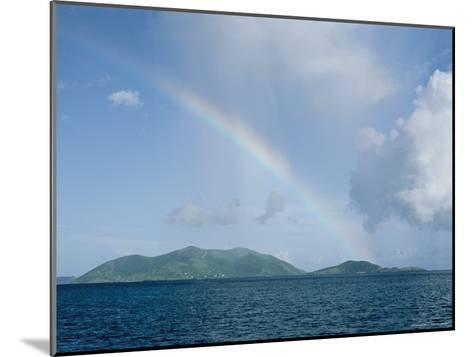 Rainbow over the British Virgin Islands-Heather Perry-Mounted Photographic Print