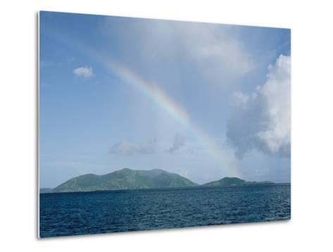 Rainbow over the British Virgin Islands-Heather Perry-Metal Print