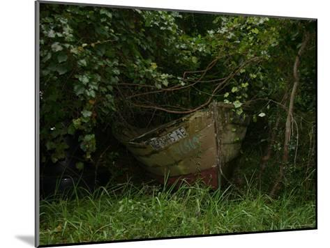 Overgrown Fishing Boat Abandoned in the Seaside Woods-Stephen St^ John-Mounted Photographic Print