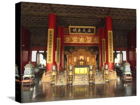 The Hall of Supreme Harmony in the Beijings Forbidden City-Richard Nowitz-Stretched Canvas Print