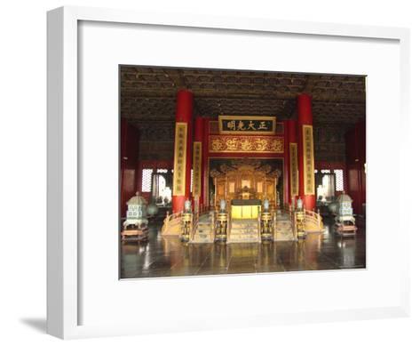 The Hall of Supreme Harmony in the Beijings Forbidden City-Richard Nowitz-Framed Art Print