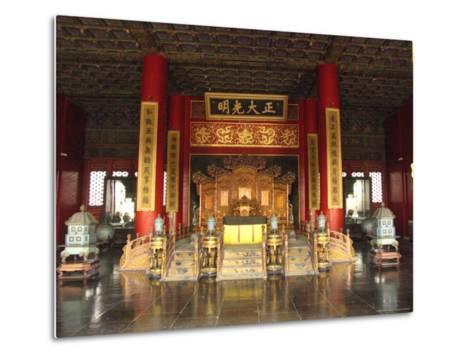 The Hall of Supreme Harmony in the Beijings Forbidden City-Richard Nowitz-Metal Print