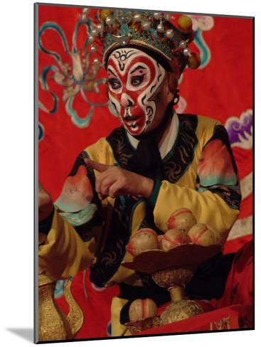 A Chinese Opera Performer in Monkey Makeup and Costume-Richard Nowitz-Mounted Photographic Print