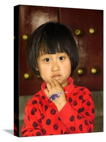 Portrait of a Chinese Girl-Richard Nowitz-Stretched Canvas Print
