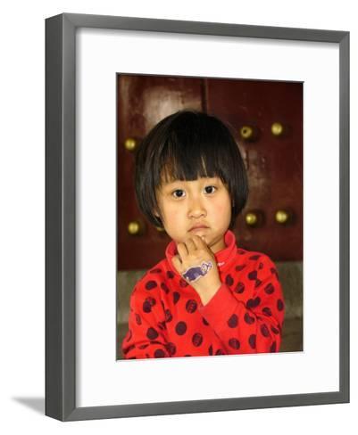 Portrait of a Chinese Girl-Richard Nowitz-Framed Art Print