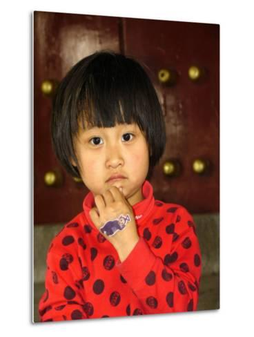 Portrait of a Chinese Girl-Richard Nowitz-Metal Print