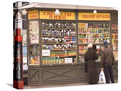 Snacks and Drinks are Sold from a Kiosk on Nevsky Prospect-Richard Nowitz-Stretched Canvas Print