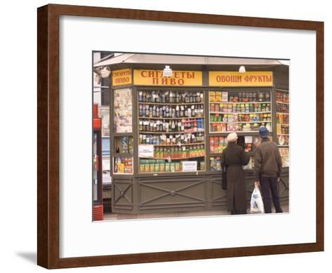 Snacks and Drinks are Sold from a Kiosk on Nevsky Prospect-Richard Nowitz-Framed Art Print