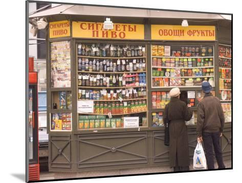 Snacks and Drinks are Sold from a Kiosk on Nevsky Prospect-Richard Nowitz-Mounted Photographic Print