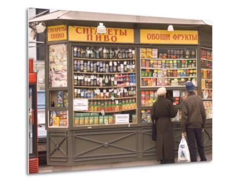 Snacks and Drinks are Sold from a Kiosk on Nevsky Prospect-Richard Nowitz-Metal Print