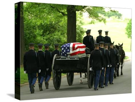 Caisson and Honor Guard on the Way to a Burial Site-Skip Brown-Stretched Canvas Print