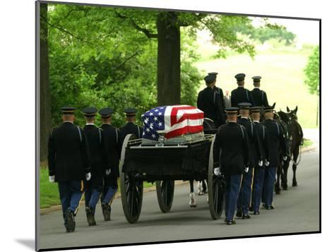 Caisson and Honor Guard on the Way to a Burial Site-Skip Brown-Mounted Photographic Print