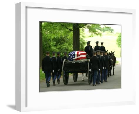 Caisson and Honor Guard on the Way to a Burial Site-Skip Brown-Framed Art Print