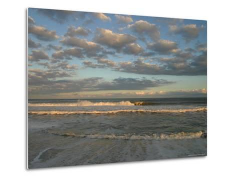 Seascape, Clouds and Waves-Skip Brown-Metal Print