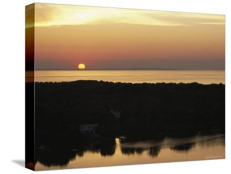Sunset View of Ocean and Scargo Lake Looking North from Scargo Tower, the Highest Point on Cape Cod-Darlyne A^ Murawski-Stretched Canvas Print