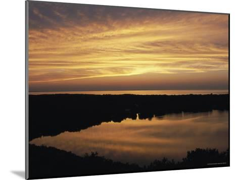 Sunset View of Ocean and Scargo Lake Looking North from Scargo Tower, the Highest Point on Cape Cod-Darlyne A^ Murawski-Mounted Photographic Print