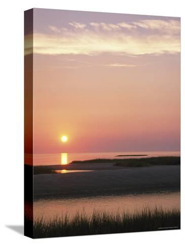 Sunset Over and Reflecting in the Atlantic Ocean-Darlyne A^ Murawski-Stretched Canvas Print