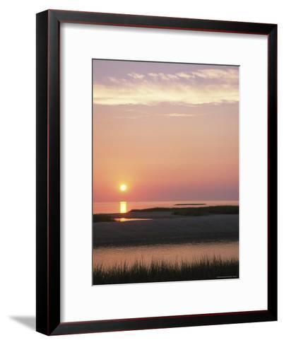 Sunset Over and Reflecting in the Atlantic Ocean-Darlyne A^ Murawski-Framed Art Print