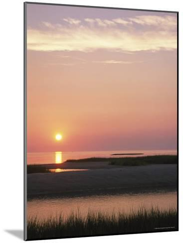 Sunset Over and Reflecting in the Atlantic Ocean-Darlyne A^ Murawski-Mounted Photographic Print