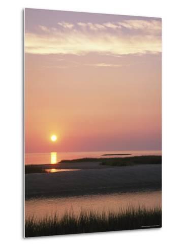 Sunset Over and Reflecting in the Atlantic Ocean-Darlyne A^ Murawski-Metal Print