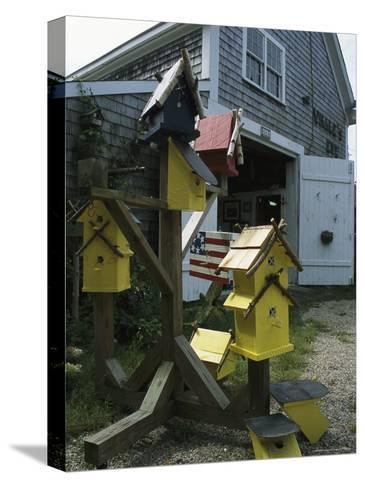 Bird Houses for Sale Outside a Barn-Darlyne A^ Murawski-Stretched Canvas Print