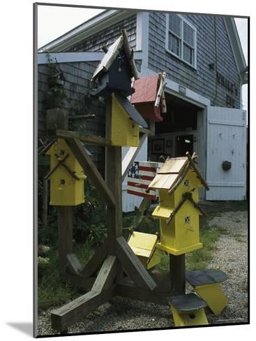 Bird Houses for Sale Outside a Barn-Darlyne A^ Murawski-Mounted Photographic Print