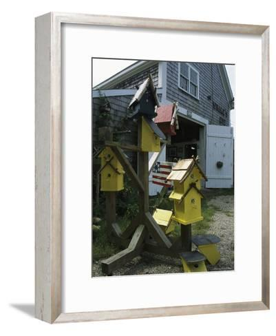 Bird Houses for Sale Outside a Barn-Darlyne A^ Murawski-Framed Art Print