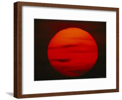 The Sun, Glowing Red as It Sets--Framed Art Print