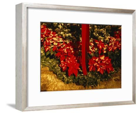 Christmas Time at the Catholic Cathedral of the Risen Christ--Framed Art Print