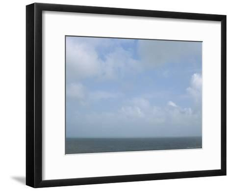The Sea and a Cloudy Sky Seen from Nha Trang Beach--Framed Art Print