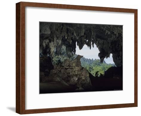 View Out of a Cave Entrance Used by Peoples Over 10,000 Years Ago-Peter Carsten-Framed Art Print